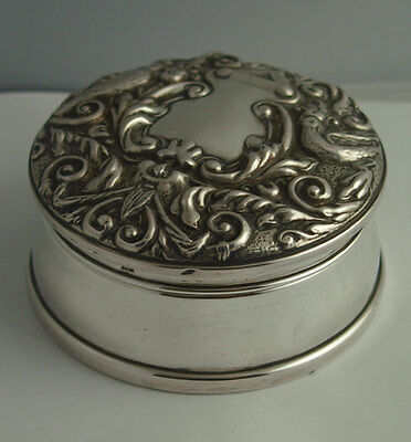 Ornate Vintage Solid Silver Ring Box - Birm. 1993