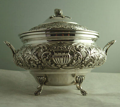 Superb Continental Solid Silver Tureen - 762g