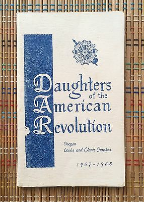 Daughters of the American Revolution 1968 Yearbook, OR Lewis & Clark Chapter