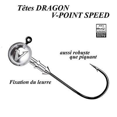 têtes plombees dragon v-point speed