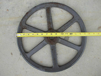 "Large Big Cast Iron 15- 3/4"" Single Groove V Pulley for B Belt"
