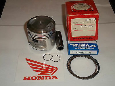 HONDA CB125 J XL125 K CG125 (383) PISTON KIT OE / TKRJ +1.0mm NOS NEW #1208a