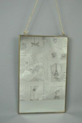 Vintage style Hanging Antique Gold framed Wall Mirror