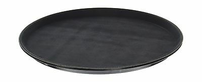 New Star 25033 NSF Plastic Round Rubber Lined Non-Slip Tray 14-Inch Black New