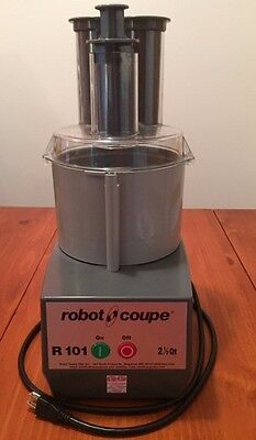 Robot Coupe R101 Combo Cutter/Vegetable Slicer, 2.5 Qt. Gray Polycarbonate Bowl