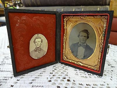 Antique Civil War Era Tintype Picture ~ Union Now And Forever ~ + Later Photo