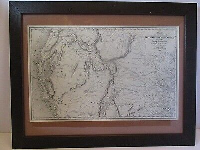 Map To Illustrate Capt Bonneville's Adventures Among The Rocky Mountains 1851
