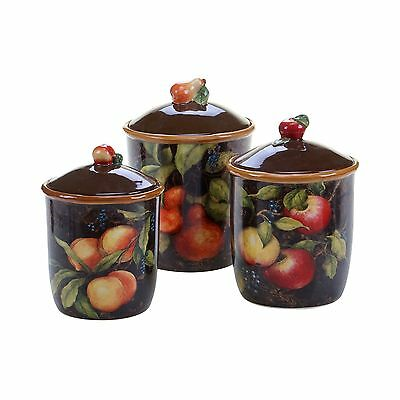 Certified International 57536 3 Piece Capri Canister Set Multicolor New