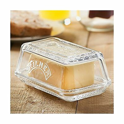 Kilner Glass Butter Dish - Vintage Butter Serving Tray with Lid Ideal for... New