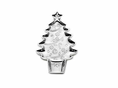 Mikasa Celebrations by Mikasa Silver-Plated Christmas Tree Cookie Serving... New