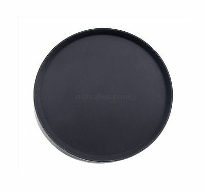 New Star 25330 NSF Plastic Round Rubber Lined Non-Slip Tray 18-Inch Black New