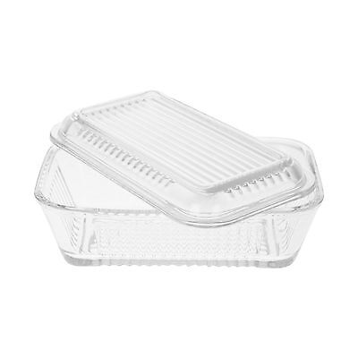 Frigo Glass Butter Dish With Lid (16.8 X 10) New