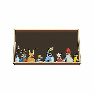 "Paperproducts Design Wood Laquer Vanity Tray Art by Vicki Sawyer ""Jay's P... New"