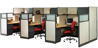 Lot of 70 + sections Used Office Cubicles Herman Miller  2.5 FT X 5 FT & 4x7 FT