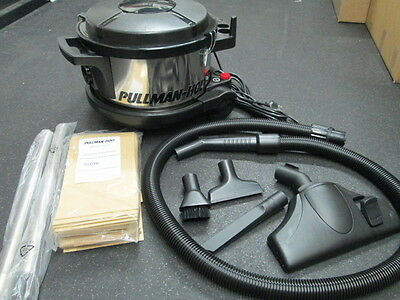 Pullman-Holt 390asb Hepa Canister Vacuum 1.5 Hp 4 Gallon