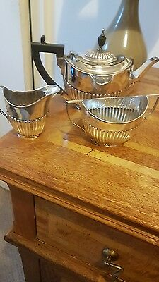 Solid Silver Bachelors Tea Set C1894