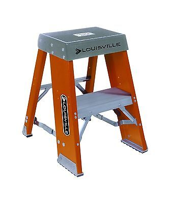 Louisville Ladder FY8002 2-Foot Duty Rating Fiberglass Step Stand Ladder ... New