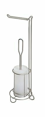 InterDesign Classico Toilet Paper Stand and Toilet Bowl Brush Combo for B... New
