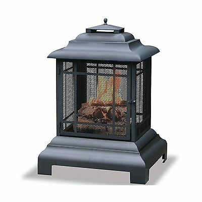 Uniflame Black Firehouse with Protective Cover Large New