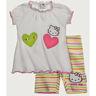 Hello Kitty Baby T-Shirt mit Leggins Set (Weiß)