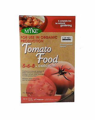 Myke Organic Tomato Food 5-6-8 + Calcium 2kg Fertilizer - Grow Bigger Tas... New