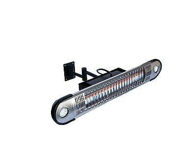 Ener-G+ Wall Mounted Indoor/Outdoor Electric Patio Heater Silver New