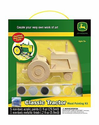 Masterpieces John Deere Classic Tractor Wood Paint Kit New