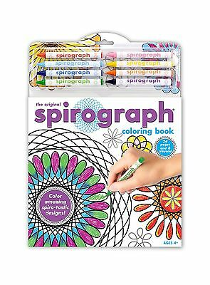 Kahootz Spirograph Coloring Book and Pencils New
