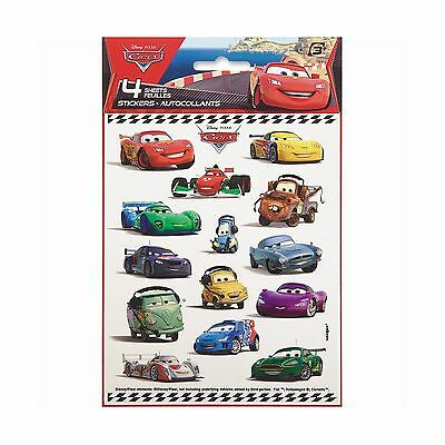 Disney Cars Sticker Sheets 4ct New