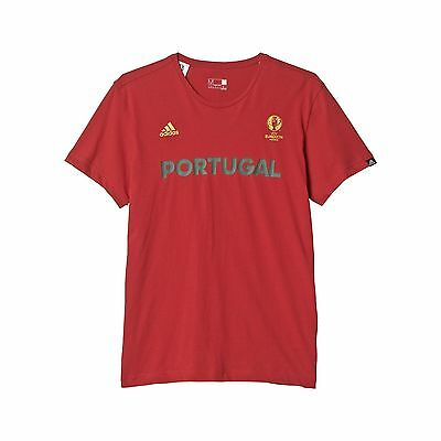 adidas AI5612 Portugal Graphic Shirt Euro 2016 (Power Red - Small) Power ... New