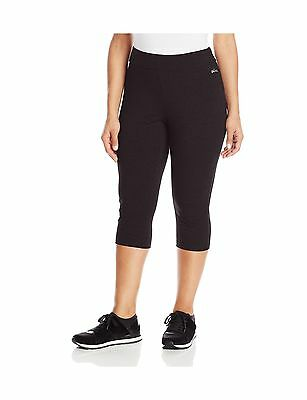 Spalding Women's Plus-Size Capri Legging Black 2X New