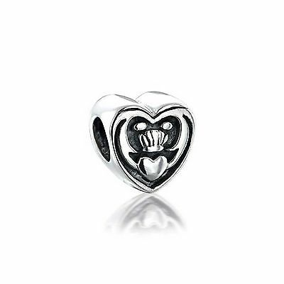 Bling Jewelry Celtic Friendship Claddagh Bead 925 Sterling Silver Pandora... New