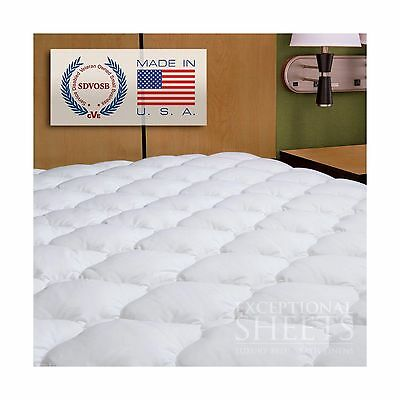 Waterproof Extra Plush Quilted Fitted Mattress Topper Pad Twin White New