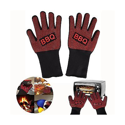 Itian Oven Gloves Heat Resistant BBQ Barbecue Grill Gloves Mittens Withst... New