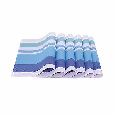 Classic and Clean-look Leaf Theme Woven Vinyl Placemats which are easy to... New