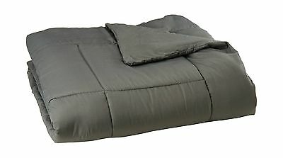 Sweet Home Collection White Goose Down Alternative Comforter Queen Gray New
