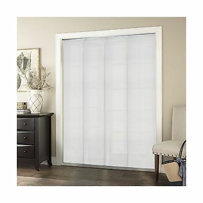 Chicology DRSPBW8096 Adjustable Sliding Panel Cordless Shade Birch White New