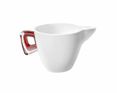 Omada M4556RR Square Porcelain Milk Jug with Red Ruby Cover New