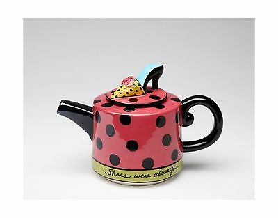 Appletree Design Shoes On Her Mind Teapot 4-1/8-Inch New