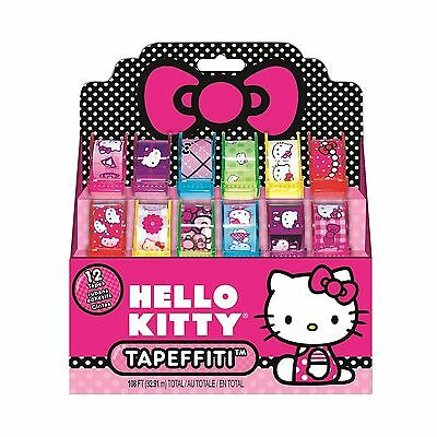 Hello Kitty Tapeffiti - Pack of 12 Tapes in Different Styles and Colours New