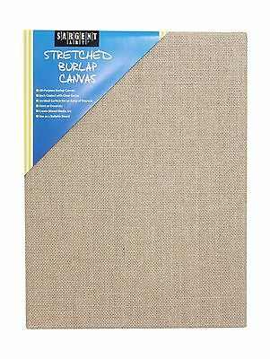 "Sargent Art 90-2029 Stretched Burlap Canvas 12 x 16"" New"