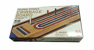 Folding Wooden Cribbage Board New