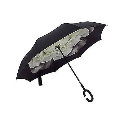 Easy Carrying Foldable Rain Umbrella Double Layer Outdoor Anti-UV Umbrell... New
