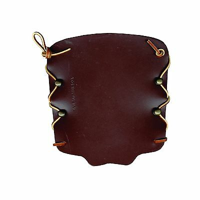 Bateman Laced Leather Armguard 7in. Brown New