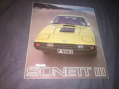 1970 SAAB Sonett Sports Car Color Brochure Catalog Prospekt