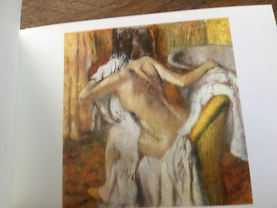 Impressionist Painting Postcard National Gallery London Woman Drying Edgar Degas