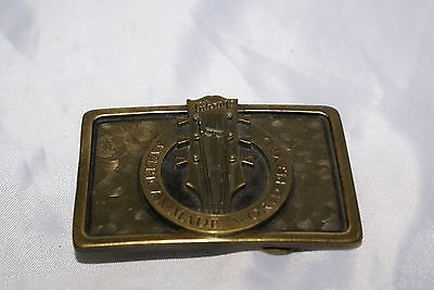 Vintage Brass Belt Buckle Gibson Guitar 1995  American Made...World Played