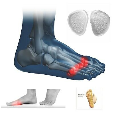 1/2 Semelles Coussin en Gel Insole Ball of Foot Metatarsal Cushion Pad to Relief