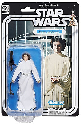 "Star Wars 40Th Anniversary Black Series 6"" Inch Princess Leia Organa Figure"