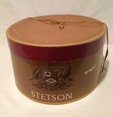 Vintage Stetson Oval Hat Box w/ Inside Hat Support 1950's
